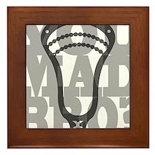 Lacrosse YouMadBro Framed Tile