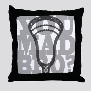 Lacrosse YouMadBro Throw Pillow