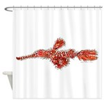 Harlequin Ghost Pipefish Shower Curtain