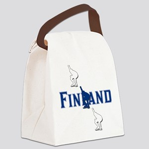 Finland Speedskating Canvas Lunch Bag