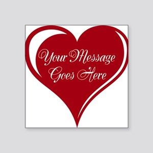 Your Custom Message in a Heart Sticker