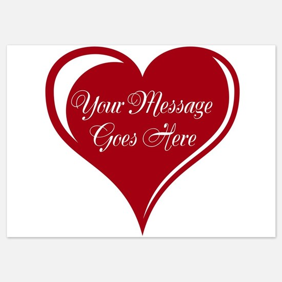 Your Custom Message in a Heart Invitations