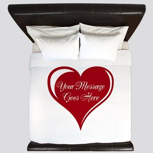 Your Custom Message in a Heart King Duvet