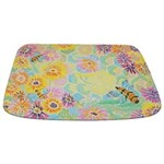 Honey Bee And Flowers Bathmat Bathmat