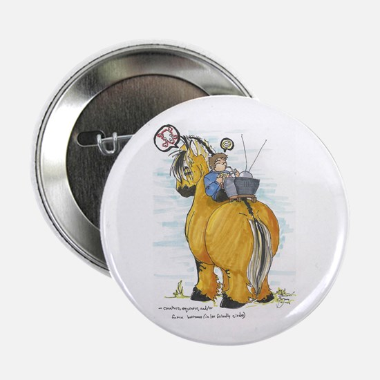 "Funny Fjord horse 2.25"" Button (10 pack)"