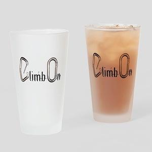 Climb On carabiners Drinking Glass
