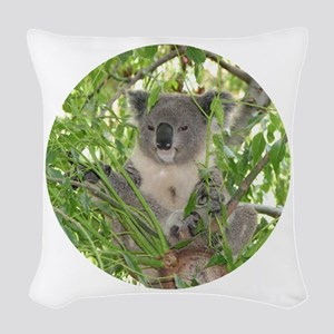 KoalaBearCir Woven Throw Pillow