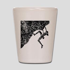 Female Climber Overhang Shot Glass
