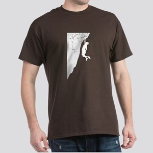Rock Climber Cliff Hanger Dark T-Shirt