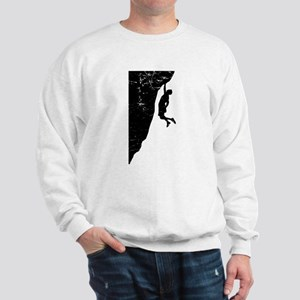 Rock Climber Cliff Hanger Sweatshirt