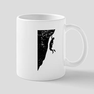 Rock Climber Cliff Hanger Mug