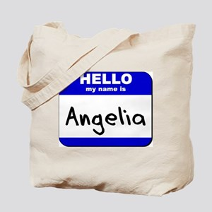 hello my name is angelia Tote Bag