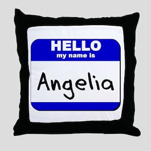 hello my name is angelia  Throw Pillow