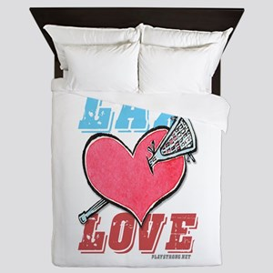 Play Strong Lacrosse Love Queen Duvet