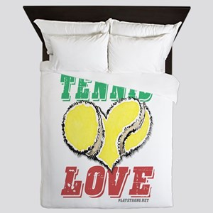 Play Strong Tennis Love Queen Duvet