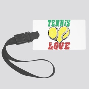 Play Strong Tennis Love Luggage Tag