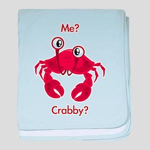 Crabby baby blanket