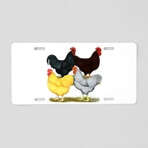 Heavy Breeds Rooster Quartet Aluminum License Plat