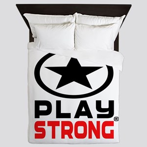 Play Strong Oval Star Queen Duvet