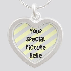 Your Custom Photo Silver Heart Necklace