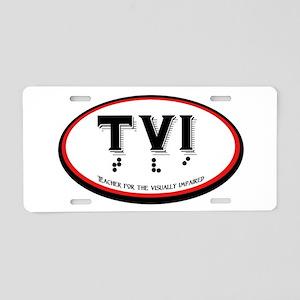 Tvi Oval Aluminum Aluminum License Plate
