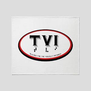 TVI OVAL Throw Blanket