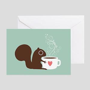 Coffee Squirrel Greeting Card