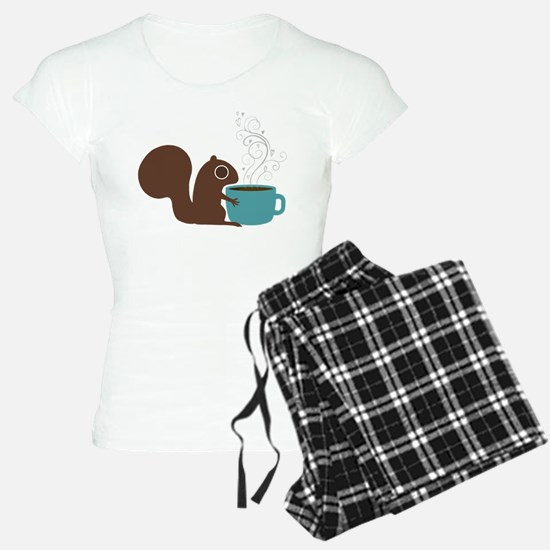 Coffee Squirrel pajamas