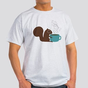 Coffee Squirrel Light T-Shirt
