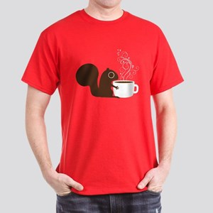 Coffee Squirrel Dark T-Shirt