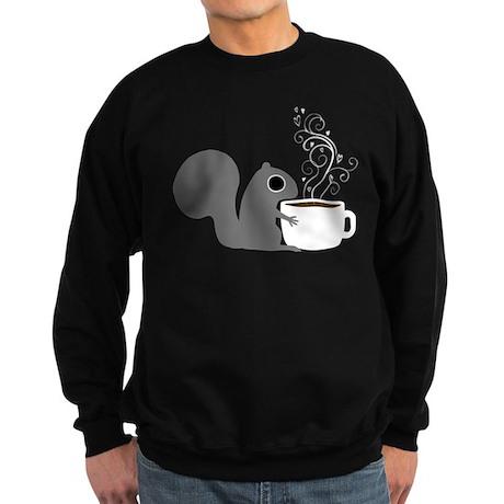 Coffee Squirrel Sweatshirt (dark)