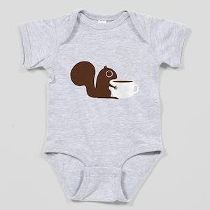 Coffee Squirrel Baby Bodysuit