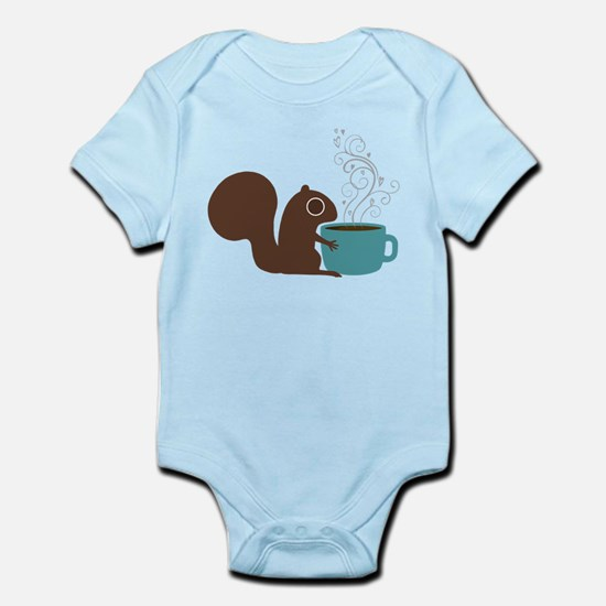 Coffee Squirrel Infant Bodysuit