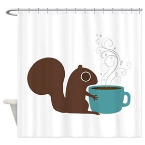 Funny Squirrel Lover Shower Curtains