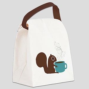 Coffee Squirrel Canvas Lunch Bag