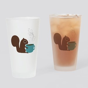 Coffee Squirrel Drinking Glass