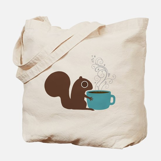 Coffee Squirrel Tote Bag