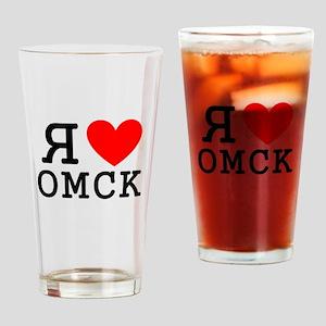 LyublyuRUS_Omsk Drinking Glass