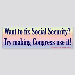 Fix Social Security bumper sticker