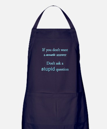 Stupid Question Apron (dark)