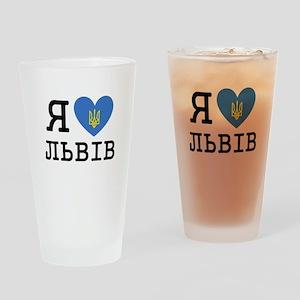LyublyuUA_Lviv Drinking Glass