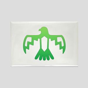 Green Thunderbird Rectangle Magnet