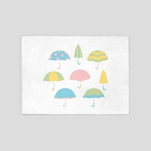 Umbrellas 5'x7'Area Rug