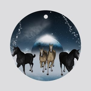 Horses in the universe Ornament (Round)