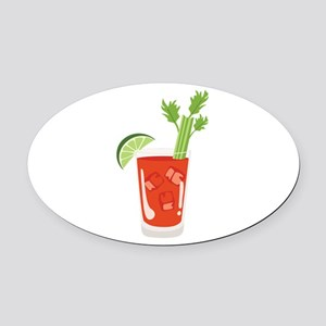 Bloody Mary Drink Oval Car Magnet