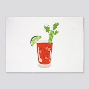 Bloody Mary Drink 5'x7'Area Rug