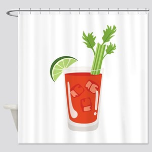 Bloody Mary Drink Shower Curtain
