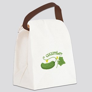 Cucumber Canvas Lunch Bag
