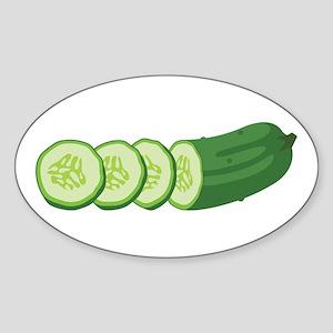 Sliced Cucumber Vegetable Sticker