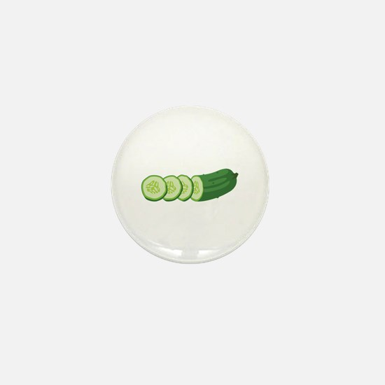 Sliced Cucumber Vegetable Mini Button